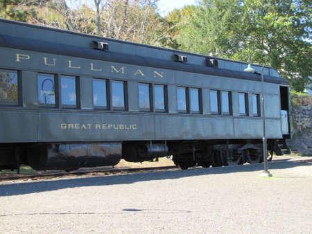 steam train: Essex Steam Train stopped