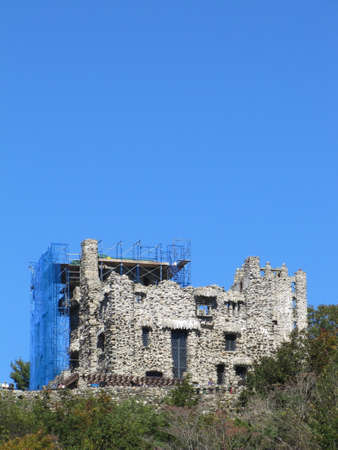 state park: Gillette Castle State Park, East Haddam, Connecticut during a construction