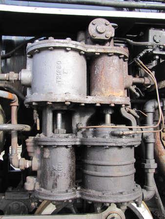 steam train: details of an old steam train engin Editorial