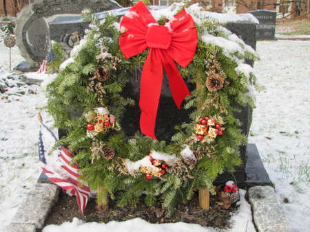 croton on hudson cemetery in a Christmas day