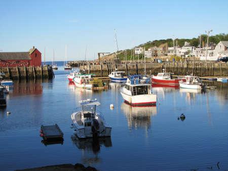 harbor with fishing boats Rockport Massachusetts -2011
