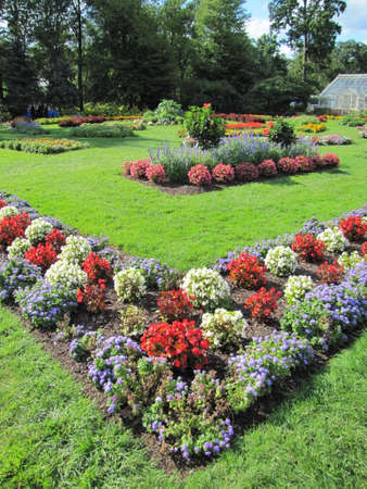 Rose gardens at Elizabeth Park, in Hartford, Connecticut