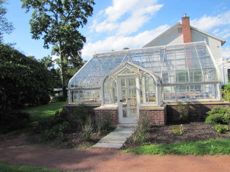 Greenhouse and house at Elizabeth Park, in Hartford, Connecticut