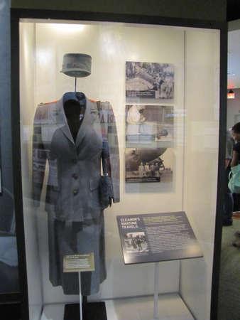 military uniform of Eleanor Roosevelt inside Franklin D. Roosevelt Presidential Library