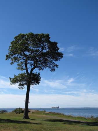 Connecticut coastline on a bright sunny day Stock Photo