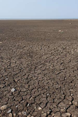 Dry cracked earth soil Stockfoto