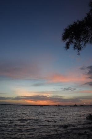 gloaming: Sunset at Pelabuhan Klang, Malaysia Stock Photo