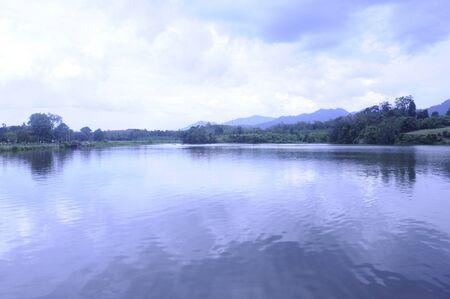 feild: Scenery at Tasik Raban (Raban Lake), Lenggong, Perak Darul Ridzuan Stock Photo