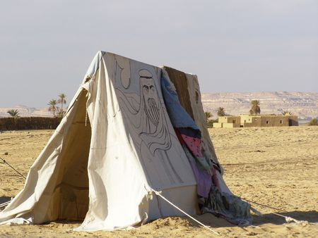 mud house: Arabian Tent in the desert