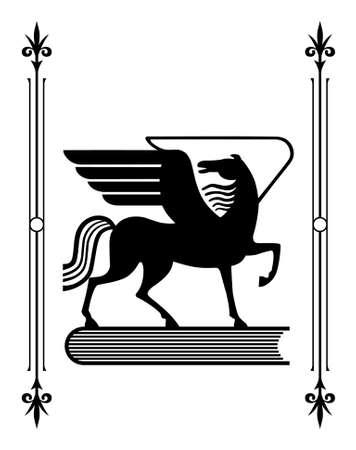 greek mythology: Symbol of Greek mythology the winged horse Pegasus, a favorite of the Muses