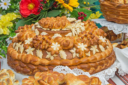 awarded: Festive bread, which is awarded honorary and distinguished guests