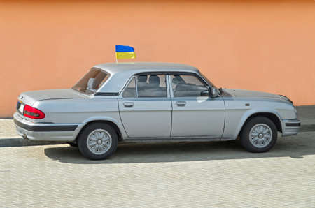 grille: Old Soviet car gaz-31105 manufactured in Gorky Automobile Plant. Stock Photo