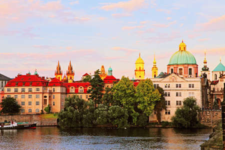 river scape: The Old town in Prague