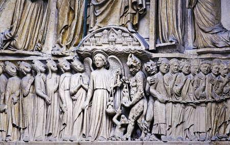 architectonic: Architectonische detail, de Notre-Dame van Parijs