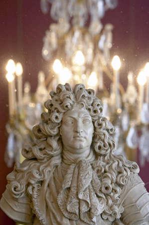 chambord: Bust of king Louis XIV Stock Photo