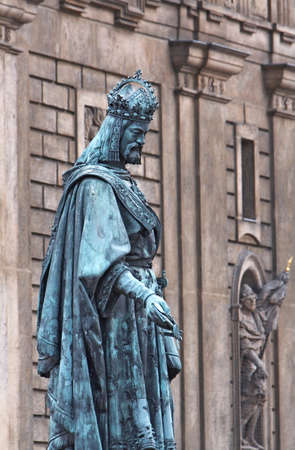 Statue of Charles IV  at Prague Stock Photo - 12917979