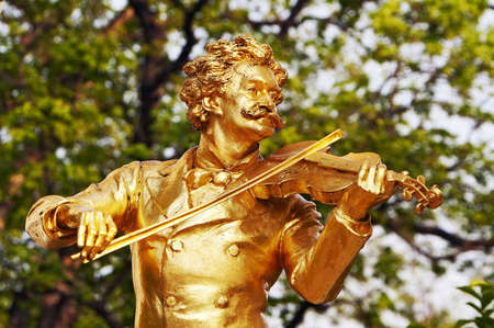 Statue of Johann Strauss  in Vienna  photo