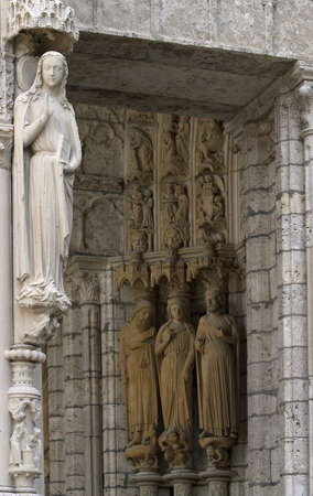 Statues of Sains at the entrance of Chartres cathedral Stock Photo - 13721227