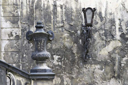 The old historic wall, Prague photo