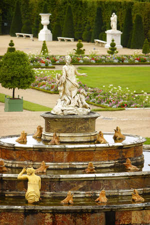 View to the Versailles gardens Stock Photo