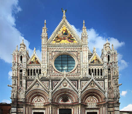 Santa Maria Assunta dome in Siena, one of the prettiest churches in Gothic style in Italy Stock Photo - 15736033