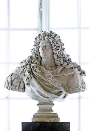 The historical marble bust of French king Louis XIV