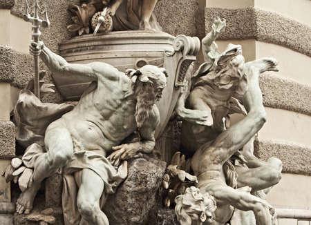 Neptune statue at the Royal Palace Hofburg,Vienna, Austria Stock Photo - 15774401