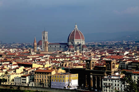 General view of medieval Duomo cathedral in Florence Stock Photo - 15774433