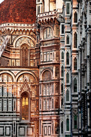 The facade of Duomo Santa Maria del Fiore in Florence Stock Photo - 15821447