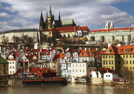 General view of Prague castle and Vltava river Stock Photo - 15821444