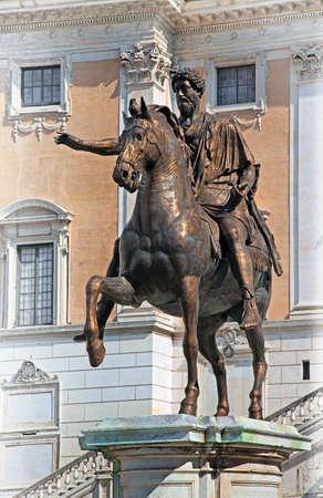 Equestrian Statue of Marcus Aurelius on Capitoline Hill, Roma Stock Photo - 15924529
