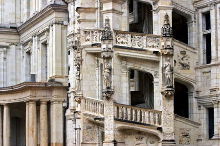 architectonic: The architectonic detail of French renaissance from Blois  Stock Photo