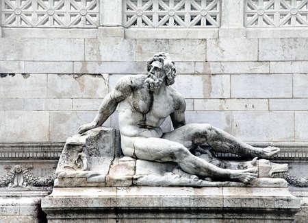 tyrrhenian: Tyrrhenian Fountain at the Monument to Vittorio Emanuele II in Rome