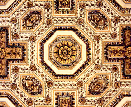 Ornements on the ceiling in St Peter photo