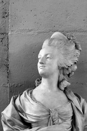 The marble bust of French queen Marie-Antoinette