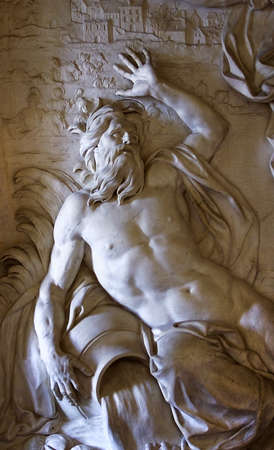 The historical marble relief sculpture from Versailles palace