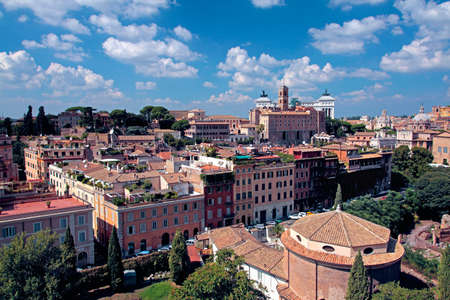 palatine: Look from Palatine Hill by direction of Monument to Vittorio Emanuele II in Rome, Italy
