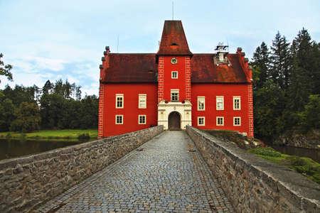 The entrance of Cervena Lhota in South Bohemia