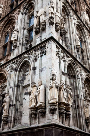 cityhall: Statues on the facade of the City hall of Cologne in Germany