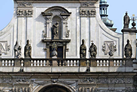 architectonic: Architectonic detail of St. Salvator church Old Town of Prague Stock Photo