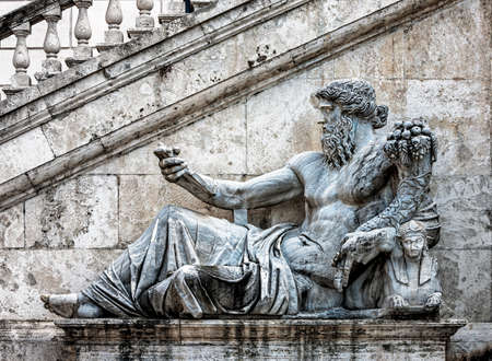 allegory: Ancient Roman allegory of Nile River on Capitol Hill in Rome, Italy