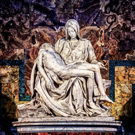 Pieta in St. Peters Basilica in Rome Stock Photo