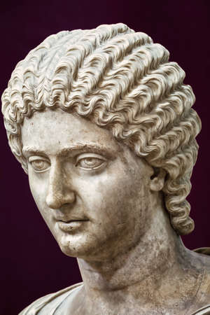 Antique Roman bust of a noble women