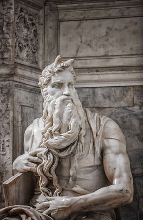 Moses in San Pietro in Vincoli church in Rome