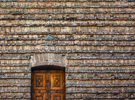 The old church wall detail in Florence Stock fotó