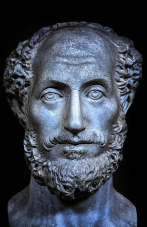 Ancient roman portrait bust of a man