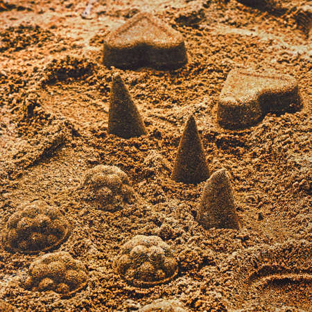 The detail of sand cakes
