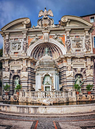 The Organ Fountain in villa dEste in Tivoli, Italy