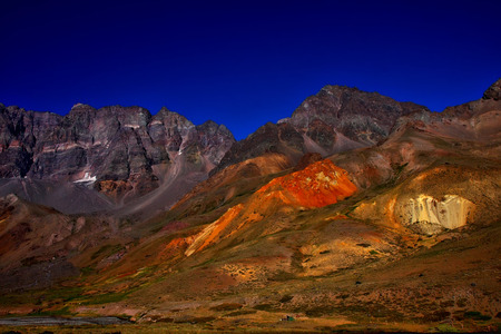 andes: mountain in los andes