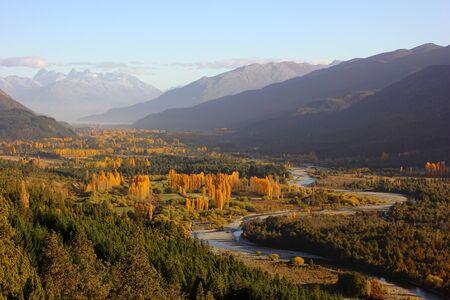 patagonia: autumn sunset in Patagonia Argentina